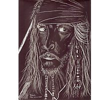 GHOST CAPTAIN, Johnny Depp Photographic Print