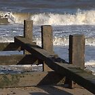 Breakwater at Gorleston on Sea, Norfolk by eeek