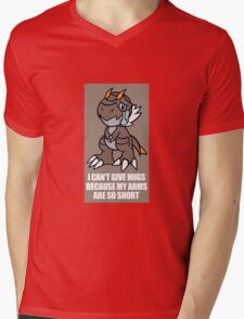 Tyrunt Can't Give Hugs Mens V-Neck T-Shirt