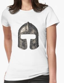 Medieval Armour Helmet Womens Fitted T-Shirt