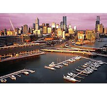 Melbourne city and Docklands at sunset Photographic Print