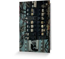 Fuse and Breaker Box Greeting Card