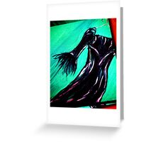 Dress in Oil Greeting Card