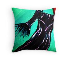 Dress in Oil Throw Pillow