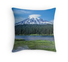 Mount Rainier View from Reflection Lakes Throw Pillow
