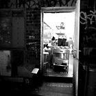 Kitchen, laneway - Melbourne.  by Carla Adams