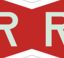 The Red Ribbon Army Symbol Sticker
