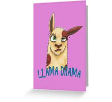 Llama Drama Greeting Card