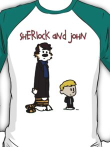 Sherlock Hobbes and John Calvin T-Shirt