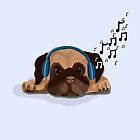 Musical Pug by Prettyinpinks