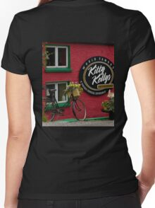 Kitty Kelly's restaurant, Donegal - wide Women's Fitted V-Neck T-Shirt