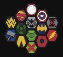 Marvel DC Comic Superhero Crossover Megaverse T-Shirt