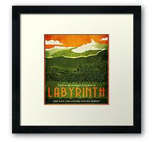 Explore the Tranquil Kingdom of Labyrinth Framed Print