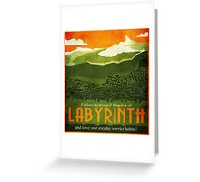 Explore the Tranquil Kingdom of Labyrinth Greeting Card