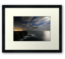 Stillness and Speed on a Moonlit Night Framed Print