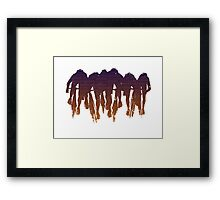 sprint line Framed Print