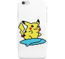 Pikachu surf - pixelart iPhone Case/Skin
