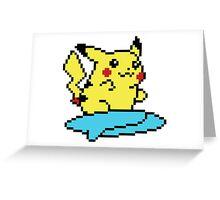 Pikachu surf - pixelart Greeting Card