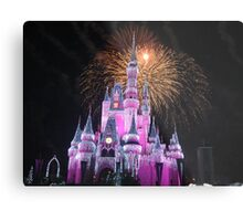 Disney Castle Disney Fireworks Disney Cinderella Disney Sleeping Beauty Metal Print