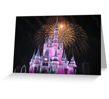 Disney Castle Disney Fireworks Disney Cinderella Disney Sleeping Beauty Greeting Card