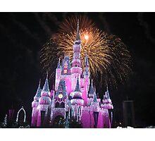 Disney Castle Disney Fireworks Disney Cinderella Disney Sleeping Beauty Photographic Print