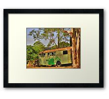 The Old School Bus Framed Print