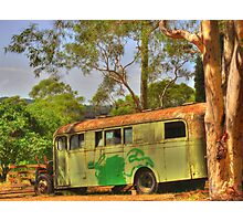 The Old School Bus Photographic Print