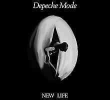"""Depeche Mode : New Life 7"""" Paint by Luc Lambert"""