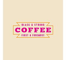 Coffee First Photographic Print