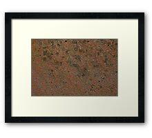 Wear and Tear Rust Texture 1 Framed Print