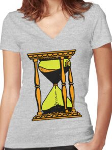 HOUR GLASS Women's Fitted V-Neck T-Shirt
