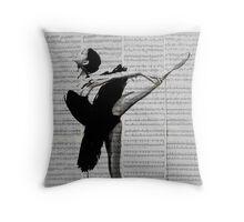 the black tutu Throw Pillow