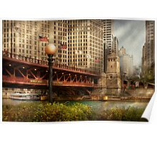 Chicago, IL - DuSable Bridge built in 1920  Poster