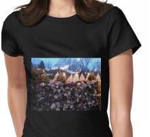 christmas tree farm Womens Fitted T-Shirt