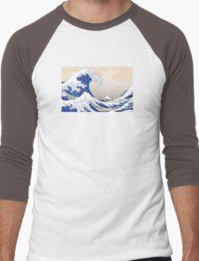The Great Wave off Kanagawa - Hokusai Men's Baseball ¾ T-Shirt