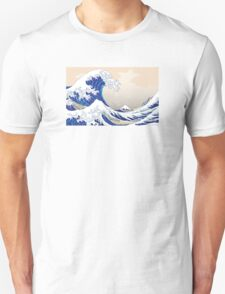 The Great Wave off Kanagawa - Hokusai Unisex T-Shirt