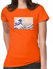 The Great Wave off Kanagawa - Hokusai Womens Fitted T-Shirt