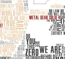 Metal Gear Solid 4 - Liquid Ocelot Sticker