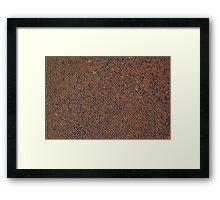 Wear and Tear Rust Texture 3 Framed Print