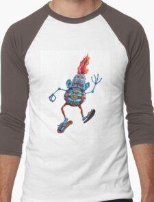 Robot Head Man Men's Baseball ¾ T-Shirt