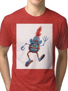 Robot Head Man Tri-blend T-Shirt
