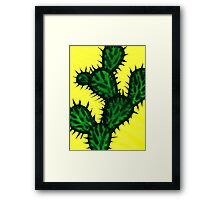 Chinese brush painting - Opuntia cactus. Framed Print