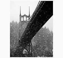 St. Johns Bridge in Snow Unisex T-Shirt