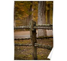 The Old Rail Fence Poster