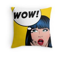 Pop Art - Wow Throw Pillow
