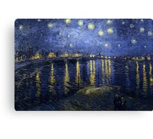'Starry Night Over The Rhone' by Vincent Van Gogh (Reproduction) Canvas Print