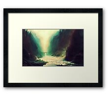 Mysterious Mountains Framed Print