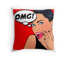 Pop Art - OMG Throw Pillow