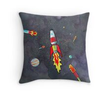 5 Rockets Throw Pillow