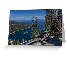 High Above Emerald Bay Greeting Card
